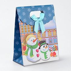 Christmas Gift Bags($8.99) Assorted Festive Holiday Party bags Santa Claus 5 styles