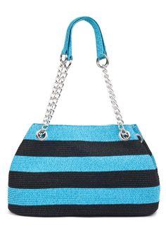 Viv Marina Striped Purse