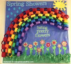 Paper Chain Rainbow Bulletin Board Idea