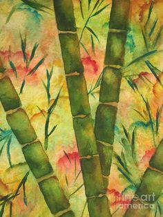 Bamboo Garden Painting  - Bamboo Garden Fine Art Print by Chrisann Ellis