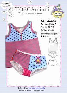Nähanleitungen Kind - 10K8 Ebook Kinderunterwäsche Hemd + Hose Gr 92-140 - ein Designerstück von TOSCAminni-Schnittmanufaktur bei DaWanda