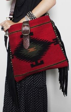 ☮ American Hippie Bohemian Style ~ Boho Leather and Turquoise Bag Look Fashion, Trendy Fashion, Fashion Shoes, Fashion Accessories, Womens Fashion, Fashion Black, My Bags, Purses And Bags, Ethno Style