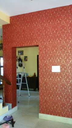 Unique Wall Paint Patterns Texture Wall Arts Inspired by colour RED Aesthetic look red wall creeper Asian Paints Wall Designs, Asian Paint Design, Paint Designs, Painting Textured Walls, Textured Wall Panels, Textured Wallpaper, Wall Paint Patterns, Painting Patterns, Asian Paints Colours