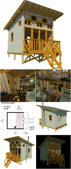 Container House - Virginia tiny cabin plans - Who Else Wants Simple Step-By-Step Plans To Design And Build A Container Home From Scratch? Tiny Cabin Plans, Tiny Cabins, Cabins And Cottages, Tiny House Plans, Tyni House, Tiny House Cabin, Tiny House Living, Tiny House Design, Living Room