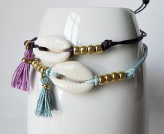 Perfect gift for best friend. Friendship Bracelets – Ibiza bracelet. Sea shell bracelet. – a unique product by HaveaFlowerDay via en.DaWanda.com