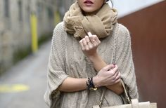 scarf, cape, fashion, knit