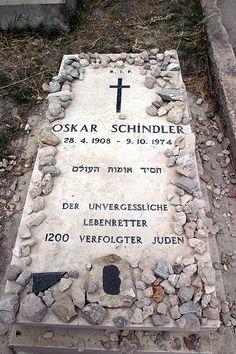 Oskar Schindler's grave site in Jerusalem.