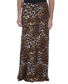 Leopard Print Maxi Skirt - Biker Babe