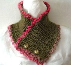 Victorian Neck Cozy in 2 Variations Crochet Pattern by timaryart Crochet Cowel, Col Crochet, Crochet Gratis, Crochet Collar, Crochet Scarves, Crochet Stitches, Crochet Hooks, Free Crochet, Crochet Patterns