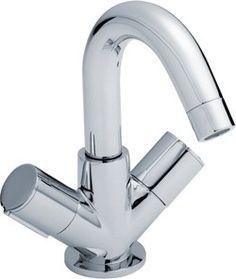 basin faucet with swivel spout & push button waste (chrome). - kbbusa.com #faucet