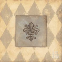 Fleur De Lis III Art Print by Stephanie Marrott at Art.com