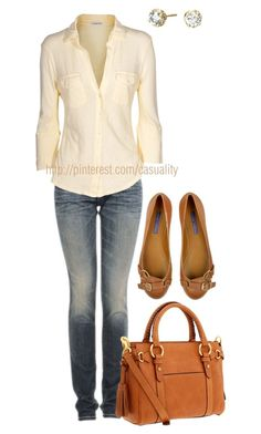 The shoes! Definitely a casual outfit for when I want to look good while running errands. I'm finding myself like the color mustard more and more, so these shoes look great to me. Look Fashion, Fashion Outfits, Womens Fashion, Fashion Trends, High Fashion, Mode Style, Style Me, Look Kim Kardashian, Only Shirt