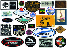 We love providing support for local surf and sport shops, as well as world renown brands! Check out some of these custom labels, hang tags and embroidered patches!