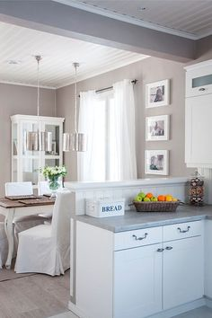 Diy Kitchen, Kitchen Dining, Kitchen Decor, Dining Rooms, Creative Home, My Dream Home, House Plans, Sweet Home, White Frames