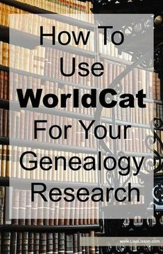 WorldCat is a powerful tool to have in your genealogy toolbox! Spend time exploring what it has to offer. WorldCat can be a valuable tool in your genealogy research. Discover how to use WorldCat to find family histories and other genealogy resources. Free Genealogy Sites, Genealogy Forms, Genealogy Search, Family Genealogy, Genealogy Chart, Genealogy Humor, Ancestry Websites, Ancestry Dna, Lds Genealogy