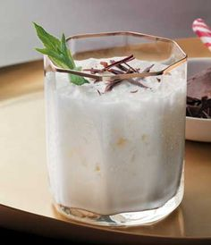 Mint Icicle–vodka, peppermint schnapps, crème de cacao, cream
