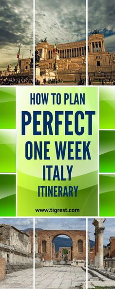 Perfect one week Italy itinerary for your first time in Italy - Rome, Pompeii, Florence, Cinque Terre, Milan and Bergamo Italy Trip, Italy Tours, Rome Italy, Italy Vacation, Pompeii Italy, Milan Italy, Travel Ideas, Travel Advice, Travel Info