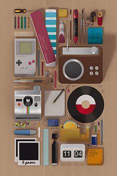 Stuff on Wood wallpaper by Andrea Manzati on Poolga