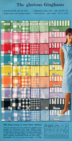 gingham or primary school dress fabric. Mine was pink smallest checks