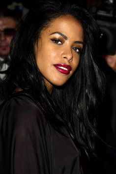 """""""My mom has kept everything over the years, since we were babies,"""" Rashad Haughton, brother of the late R & B singer Aaliyah, told POPSUGAR. Rip Aaliyah, Aaliyah Style, Aaliyah Pictures, Aaliyah Haughton, Sanaa Lathan, Tamar Braxton, Hip Hop And R&b, Alyson Hannigan, Amy Winehouse"""