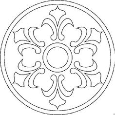 """mandala - use wool for an appliqued """"doily"""""""