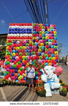 CHIANG MAI,THAILAND-JAN. 19 : 30th anniversary Bosang umbrella festival, People are interested in coming to visit the annual Umbrella festiv...