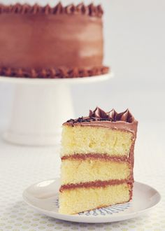 Vanilla Buttermilk Cake with Instant Fudge Frosting