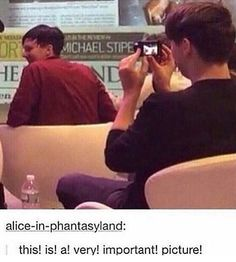Phil's number one fan stalking him
