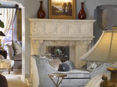 beautiful fireplace and lounge