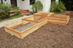 55 Simple Raised Garden Bed Ideas for Backyard Landscaping - Page 54 of 63 Patio Steps, Raised Flower Beds, Raised Beds, Garden Boxes, Garden Ideas, Garden Soil, Terrace Garden, Indoor Garden, Garden Inspiration