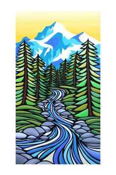 original art matted PRINT 'Sasha' West Coast by mishasmartARTWORKS, $25.00