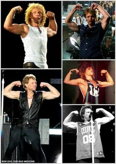 Jon Bon Jovi. Putting on a gun show <3 <3