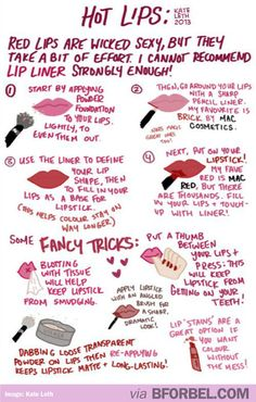 How To Put On Bright Red Lipstick…