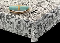 News print tablecloth.