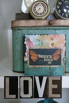 Kelly Rae's love altar !!!!