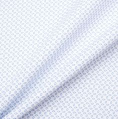 A premium quality white pure linen with royal blue geometric print. This hard wearing, yet breathable luxury woven fabric is ideal for practical tailoring, such as shirts. New in and available in a variety of colours and patterns. Textile Pattern Design, Textile Patterns, Shirting Fabric, Woven Fabric, Geo, Fabrics, Blue And White, Colours, Stock Photos