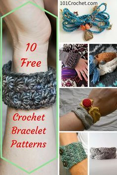 10 Easy and Free #Crochet #Bracelet Patterns | 101 Crochet