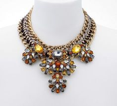 Mood Statement brown tonal cluster necklace- at Debenhams.com