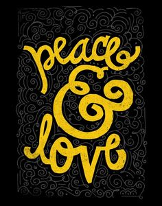 PEACE & LOVE by Matthew Taylor Wilson motivationmonday print inspirational black white poster motivational quote inspiring gratitude word art bedroom beauty happiness success motivate inspire Watercolor Typography, Bold Typography, Typography Quotes, Typography Poster, Inspirational Posters, Motivational Posters, Quote Prints, Word Art, Peace And Love