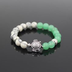 Sea Turtle Stone Bead Bracelet