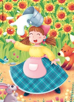 The lovely Dolly Daydream from our Storytime Issue 18 fable. Art by Silvia Sponza (http://silviasponza.com) ~ STORYTIMEMAGAZINE.COM