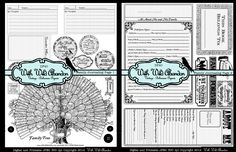 Printable Family History Journal Prompts and Family Tree - 2 pages