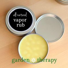 All Natural Vapor Rub Recipe for cold and flu season