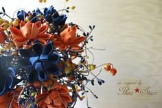 Royal Blue  - Fabric Flower Wedding Bouquet Vintage Kimono, Flower Bouquet Wedding, Blue Fabric, Fabric Flowers, Special Day, Etsy Store, Royal Blue, Vibrant, Friends