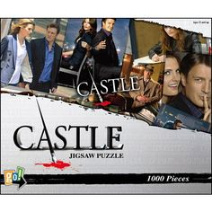 Castle 1000 Piece Puzzle: Relive some of your favorite moments from the show with Richard Castle (Nathan Fillion), Detective Kate Beckett (Stana Katic) and the rest of the talented cast as you assemble this 1000-piece jigsaw puzzle.  THIS THING IS HUGE!