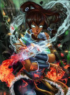 Korra - Avatar, Korra fanart. Visite o post para mais: http://www.geracaogeek.com.br/fanarts-de-avatar-aangkorra/