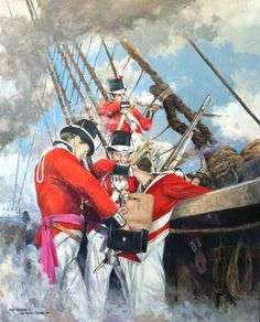Royal Marines at the Battle of Trafalgar, 1805: