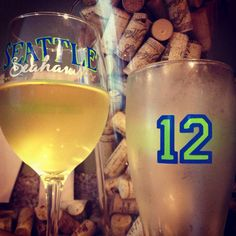 Seattle Seahawks Wine Glass by CraftySix on Etsy, $10.00