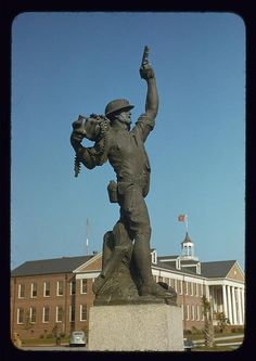 "Statue called ""Iron Mike"" by Marine recruits at Parris Island, S.C. 1942, World War II.  photographer:   Alfred T. Palmer"