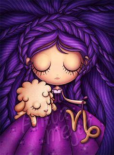 Capricornio Horoscopo - Cartoon Illustrations by Anita Mejia  <3 <3
